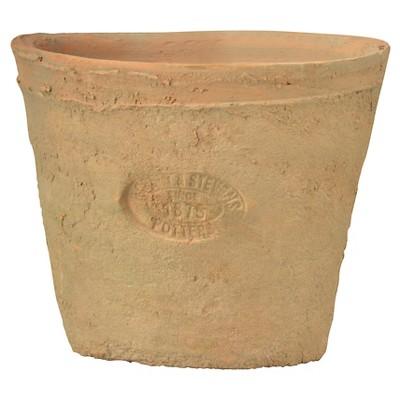 24ct Oval Aged Terracotta Pots In A Wood Crate - Brown - Esschert Design