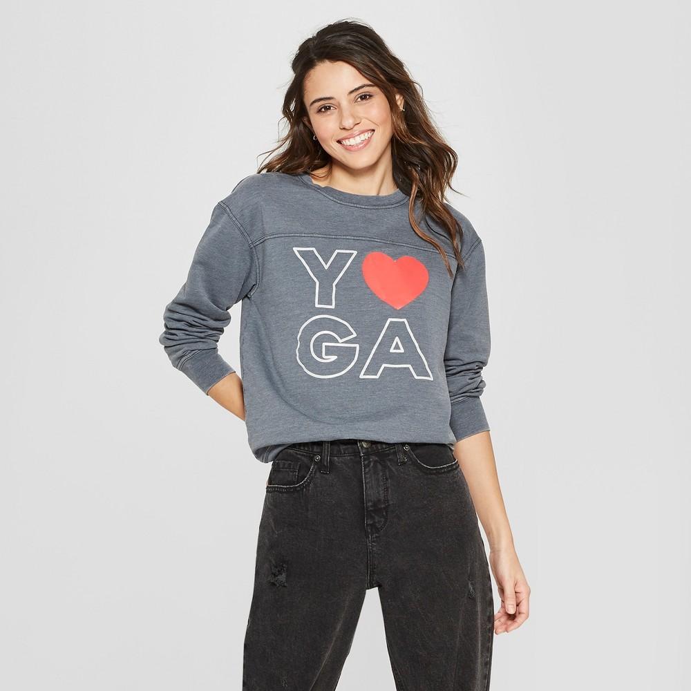 Women's Yoga Graphic Sweatshirt - Freeze (Juniors') Gray S