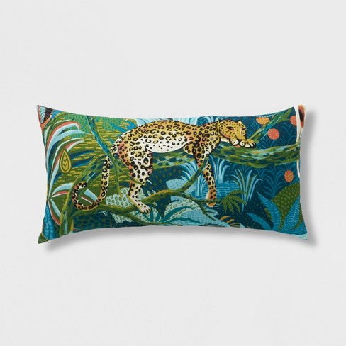 Leopard Oversized Outdoor Lumbar Pillow - Opalhouse™ - image 1 of 2