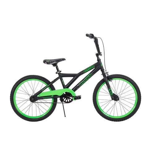 Bmx Bikes For Kids >> Huffy Decay 20 Kids Bike Black Neon Green