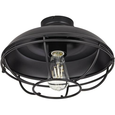 Franklin Park Matte Black Damp Rated Led Ceiling Fan Light Kit Target