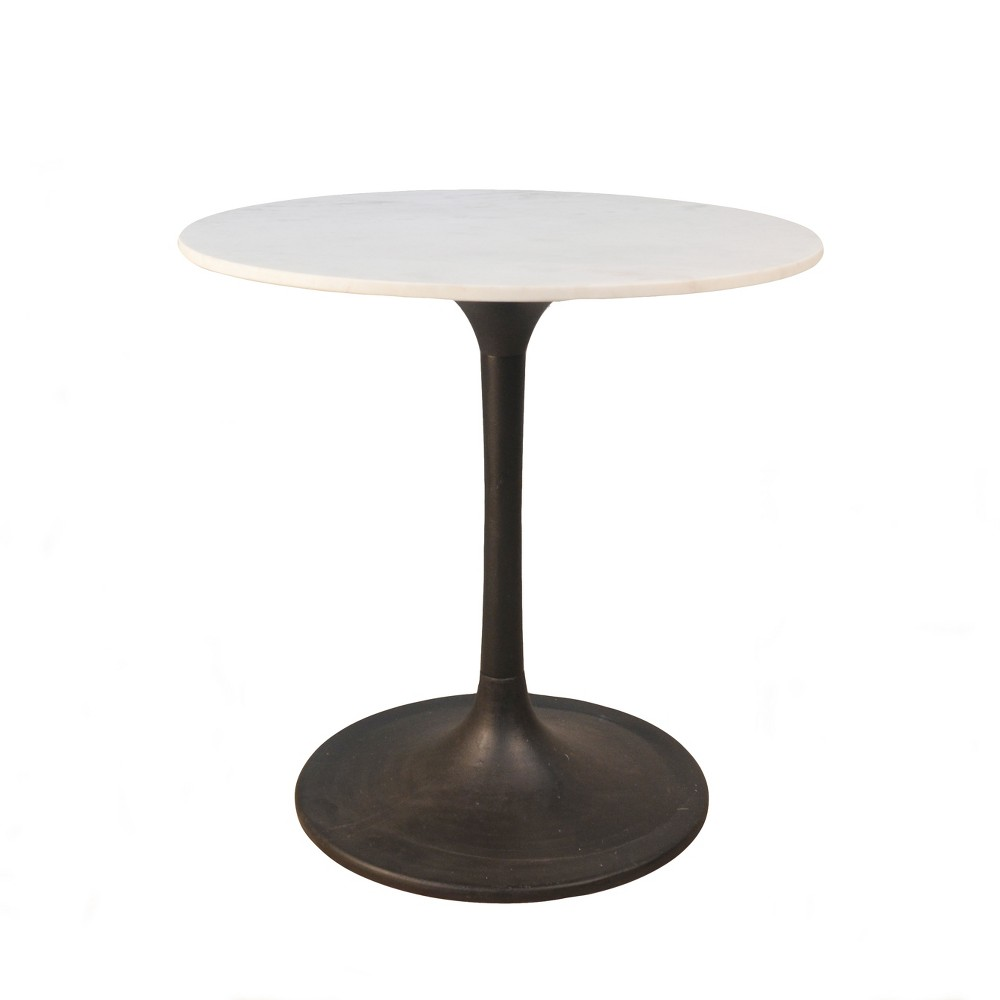 30 Zaha Round Marble Top Dining Table White - Carolina Chair and Table