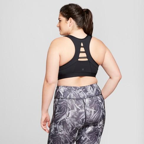 47d50ee4e768d Women s Plus Size Strappy Back Sports Bra - C9 Champion® Black 2X   Target