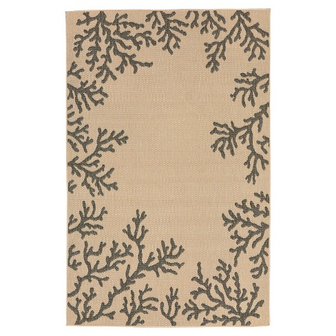 Terrace Coral Border Neutral Rug - Liora Manne - image 1 of 1