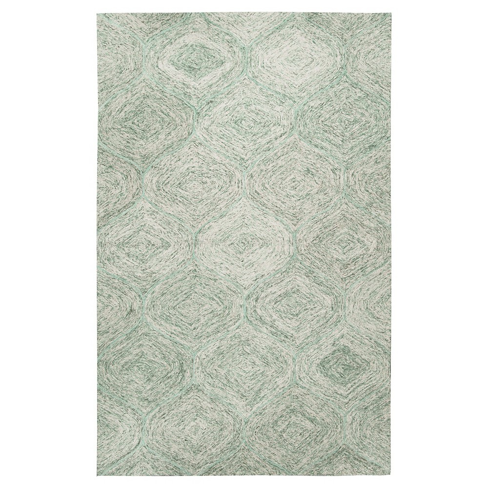 Green Trellis Tufted Area Rug 5'X8' - Rizzy Home