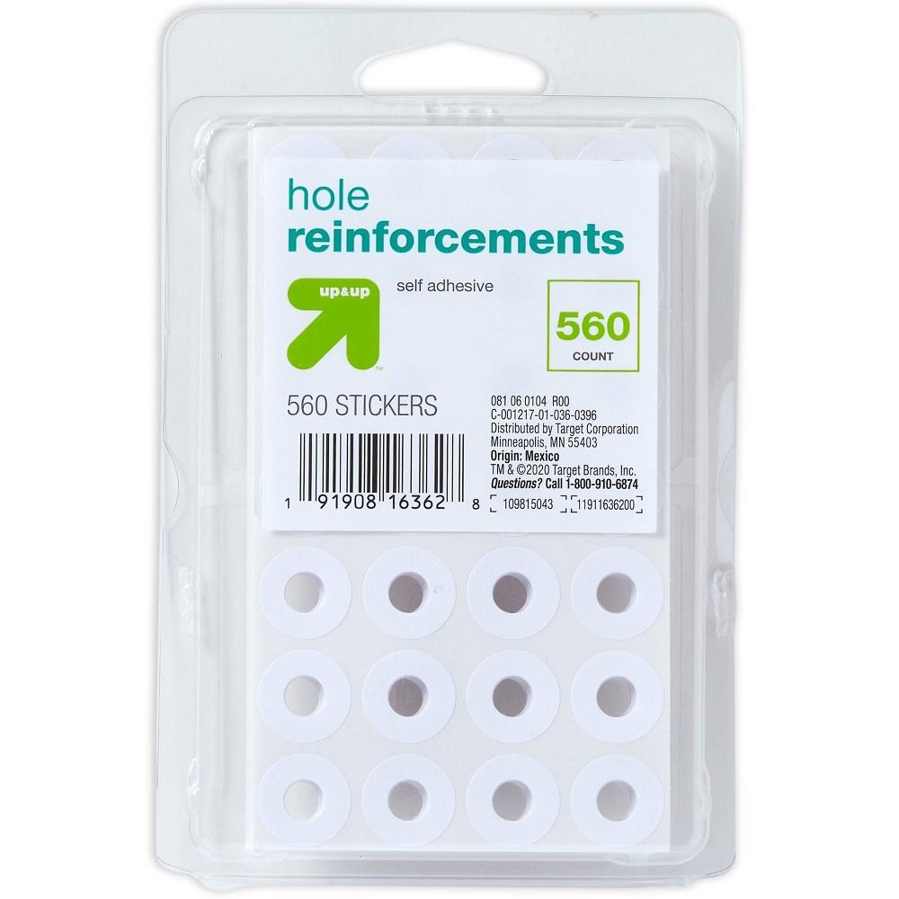560ct Binder Hole Reinforcement White Up 38 Up 8482