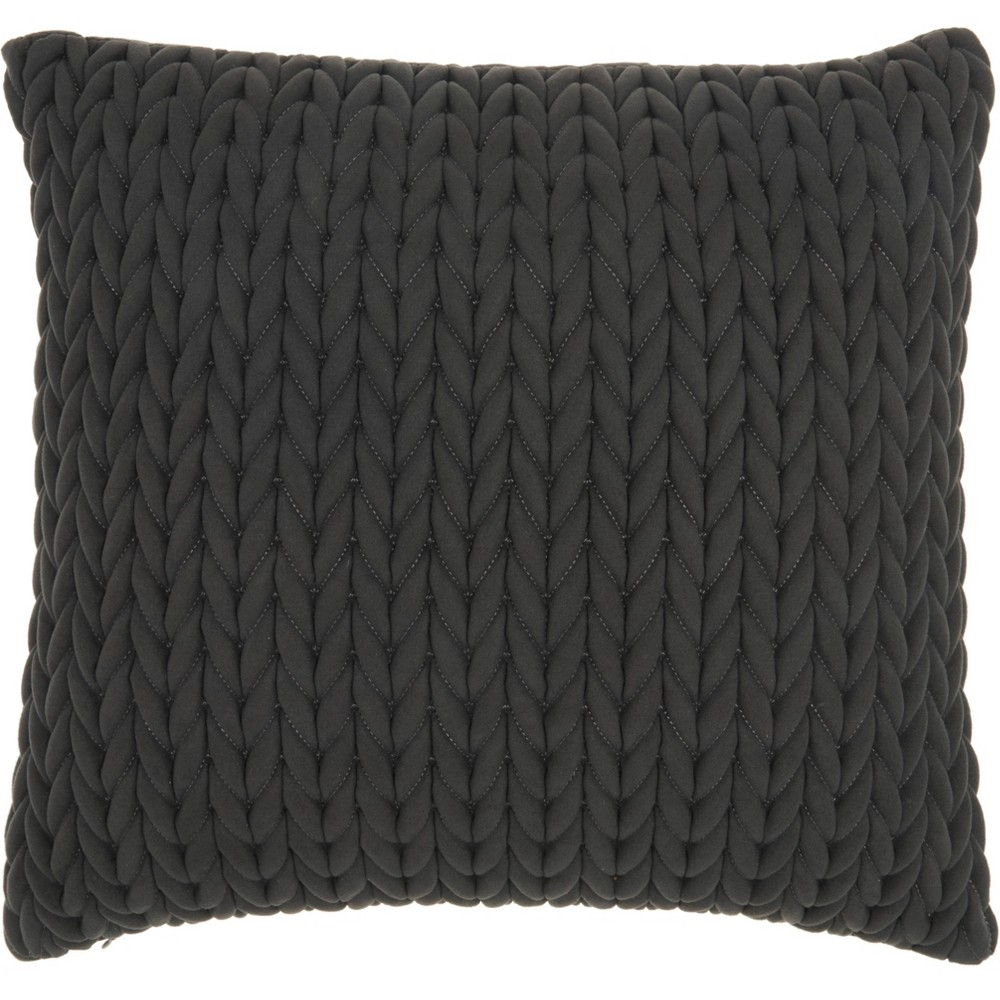 Image of Life Styles Quilted Chevron Throw Pillow Charcoal - Nourison, Black