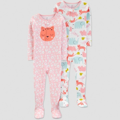ddda192901 Toddler Girls  Cat One Piece Pajama - Just One You® Made By Carter s ...