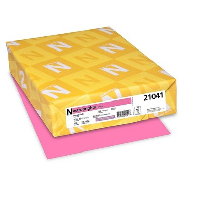 """Astrobrights Cover Paper 65 lbs 8.5"""" x 11"""" Pulsar Pink 495484"""