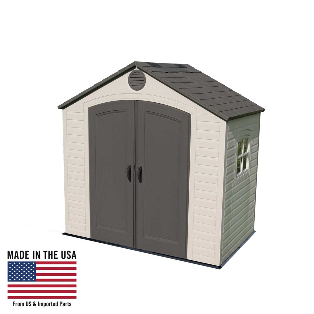 Outdoor Storage Shed 8' x 5' - Desert Sand - Lifetime, Gray