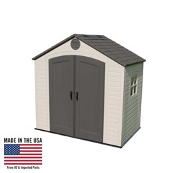 Outdoor Storage Shed 8' x 5' - Desert Sand - Lifetime