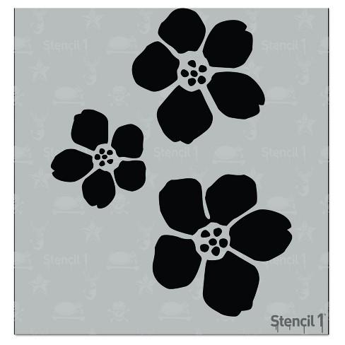 """Stencil1 Blossoms - Stencil 5.75"""" x 6"""" - image 1 of 3"""