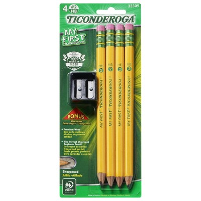 4ct My First Ticonderoga #2 Pencils with Sharpener