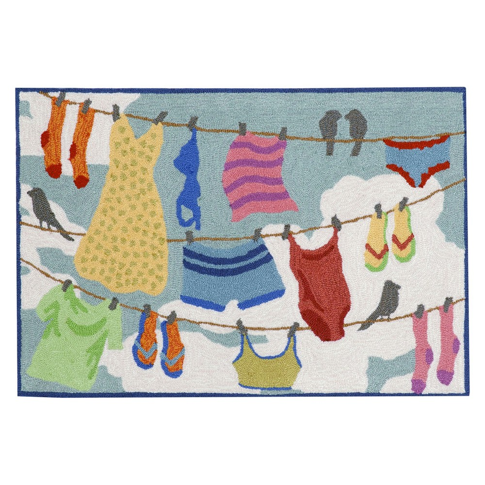 """Image of """"Frontporch Indoor/Outdoor Clothes Line Rug 30""""""""X48"""""""" - Liora Manne, Size: 2'6""""""""X4'/30""""""""X48"""""""""""""""