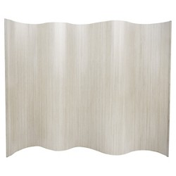 6 ft. Tall Bamboo Wave Screen - White