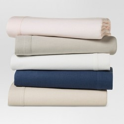 Linen Blend Solid Sheet Set - Threshold™