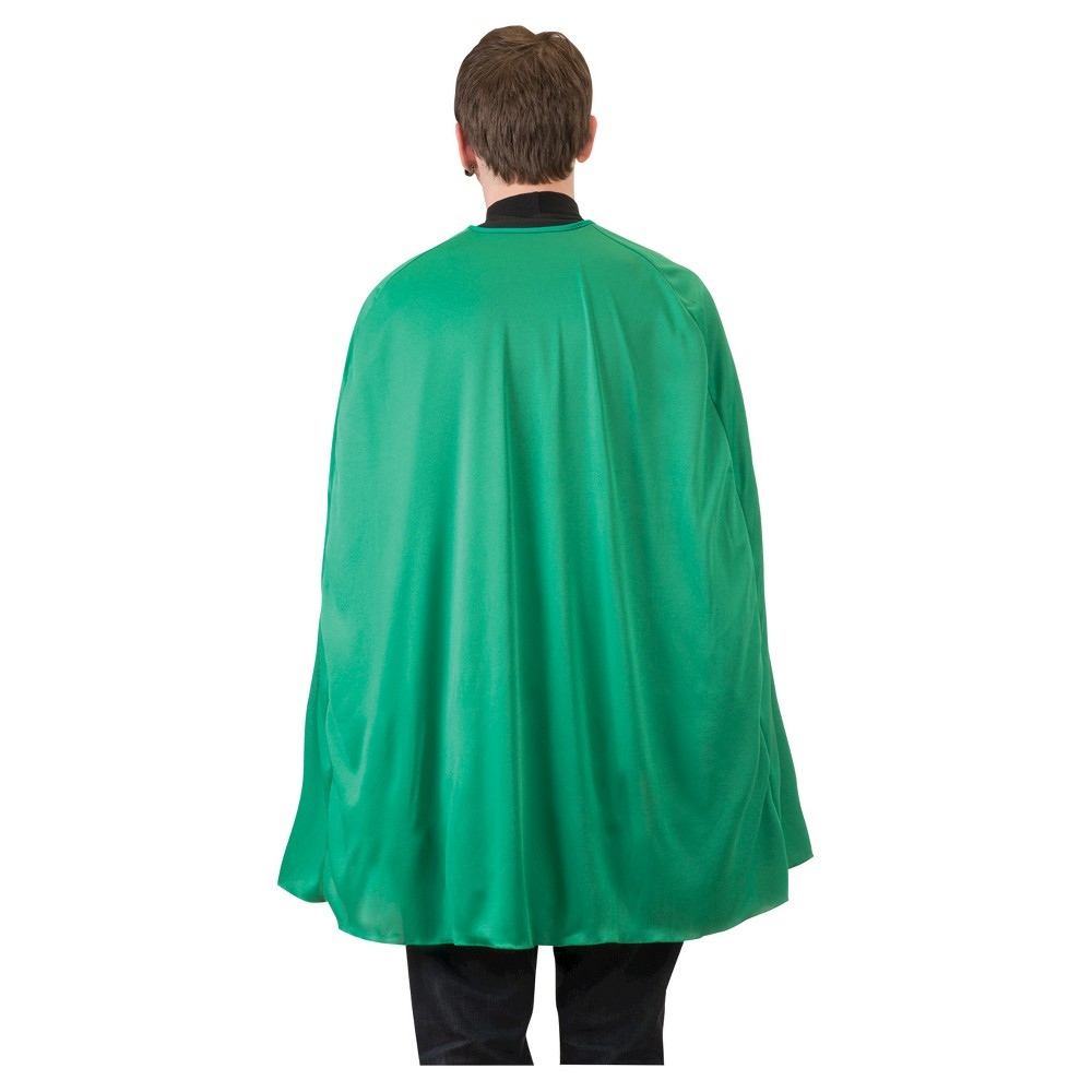 Superhero Cape Adult Green 36'' - One Size Fits Most, Adult Unisex