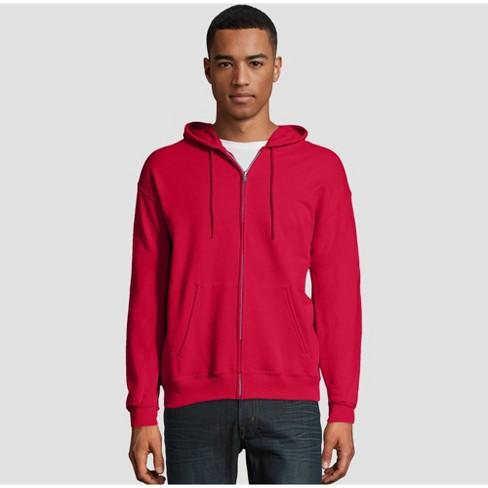 Hanes Mens EcoSmart Hooded Sweatshirt Small 1 Maroon 1 Navy
