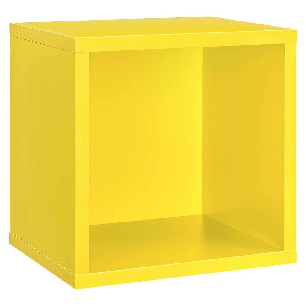Image of Dolle Shelving Wall Cube Shelf - Yellow