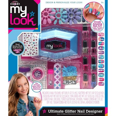 My Look Ultimate Glitter Nail Designer By Cra Z Art Brickseek