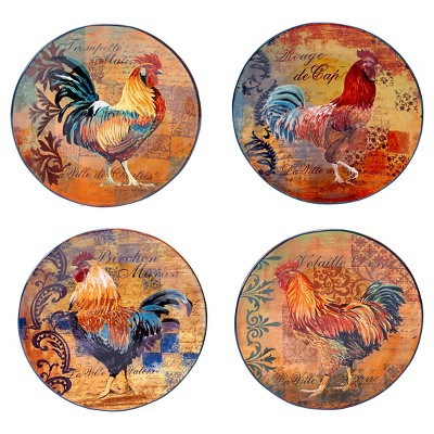 Dinner Plate 11.25  Rustic Rooster Set of 4 - Certified International