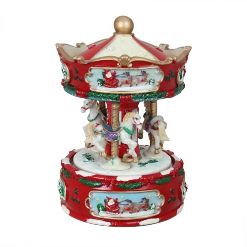 Animated Musical Carousel With Horses