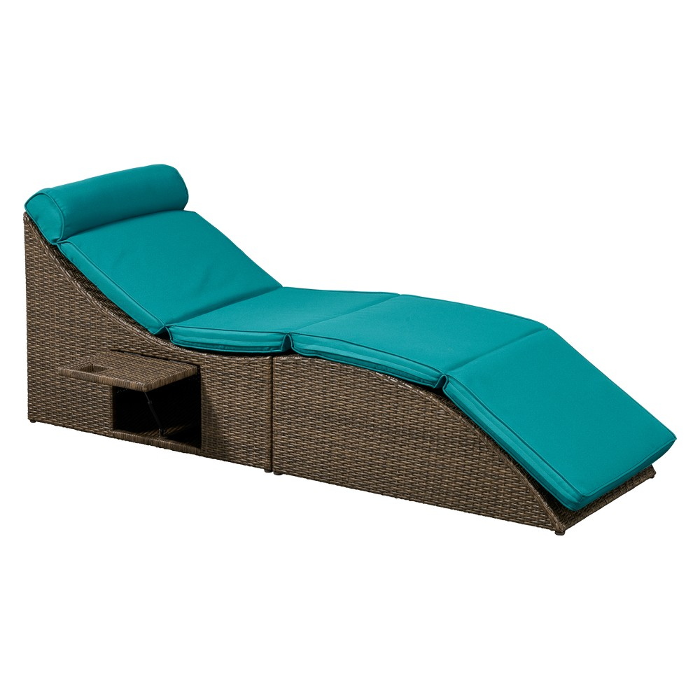 Baylands Outdoor Convertible Chaise Blue - Relax A Lounger, Turquoise