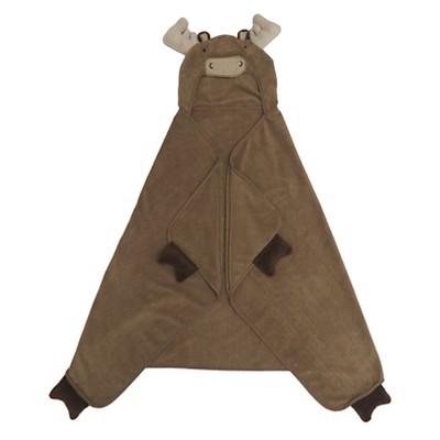 Moose Hooded Bath Towel Brown - Pillowfort™