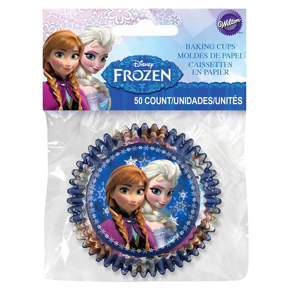 Image of Wilton Disney Frozen 50 ct Standard Baking Cup Liners, Blue