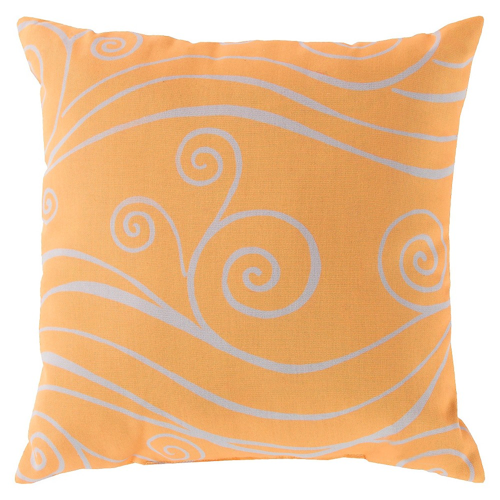 Sunflower Bredene Swirls Throw Pillow 20