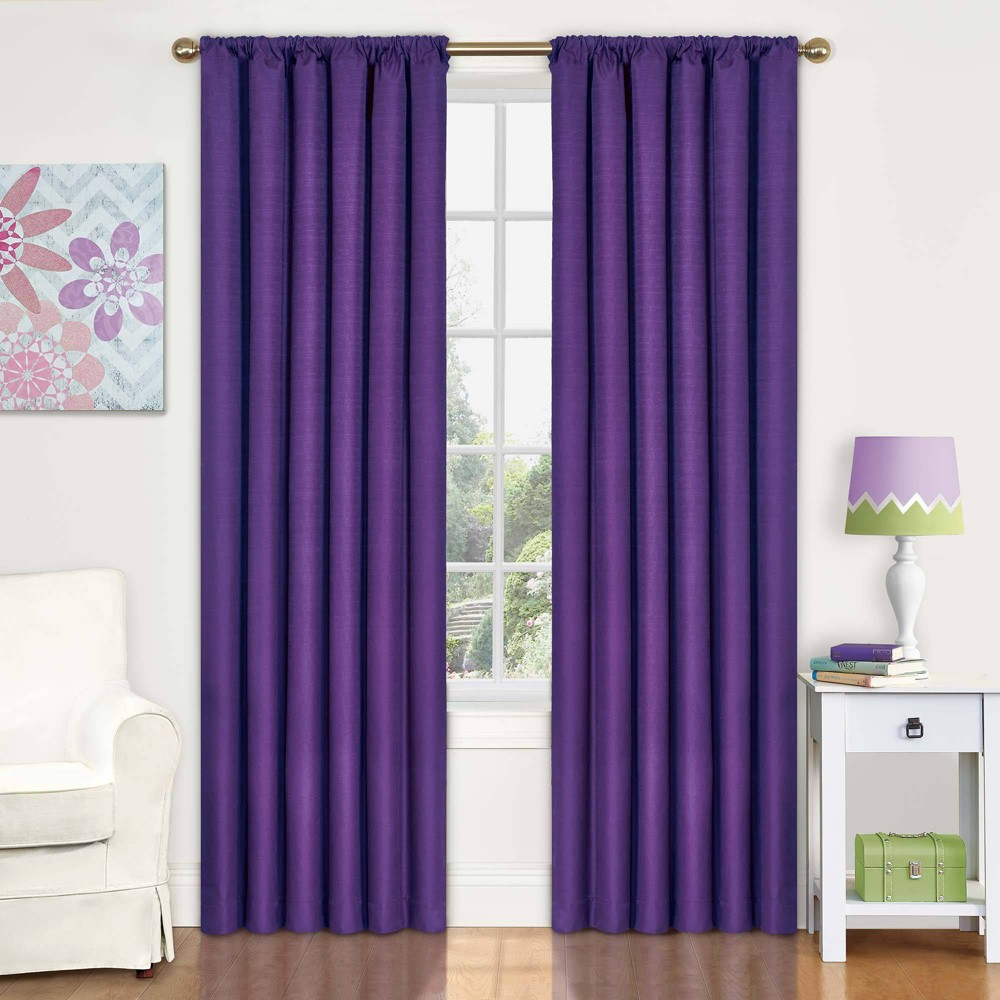 "Image of ""Eclipse My Scene Kendall Blackout Window Panel - Purple (42"""" X 63"""")"""