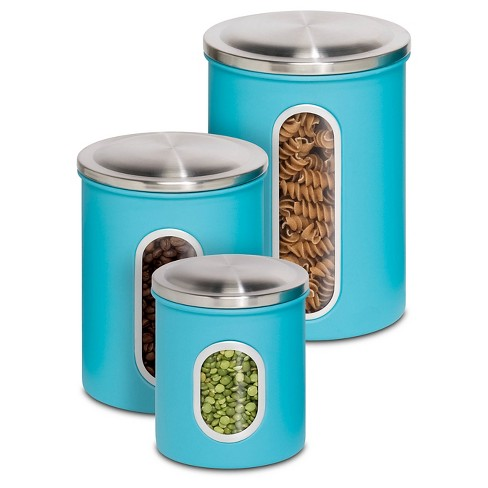 Honey-Can-Do Metal Storage Canisters - Blue(3Pk) - image 1 of 1