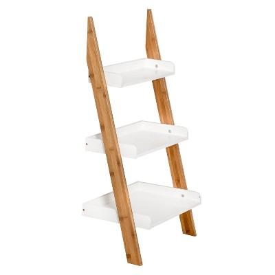 Honey-Can-Do 3 Tier Ladder Shelf White