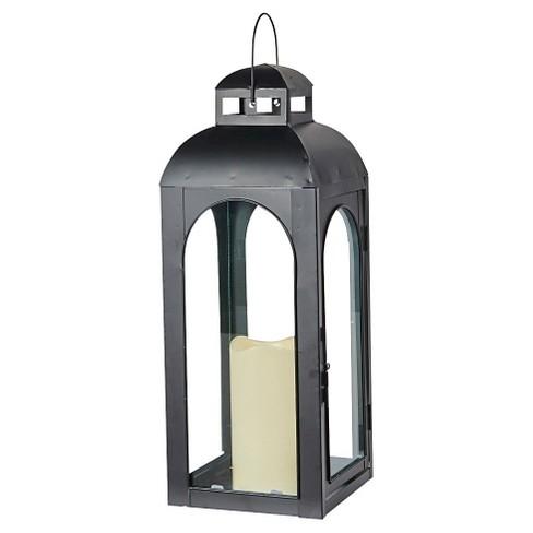"Smart Living Moreno 17"" LED Candle Outdoor Lantern - Black - image 1 of 4"