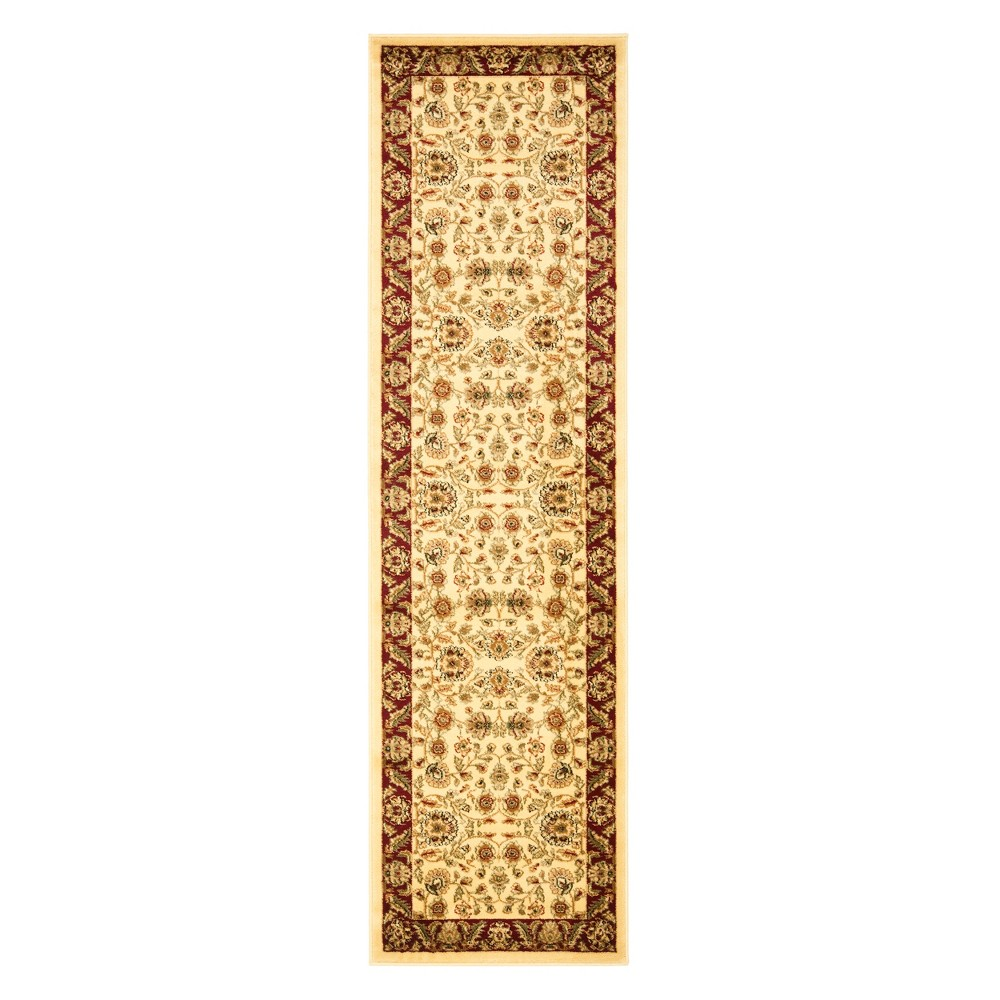 23X14 Floral Loomed Runner Ivory/Red - Safavieh Price