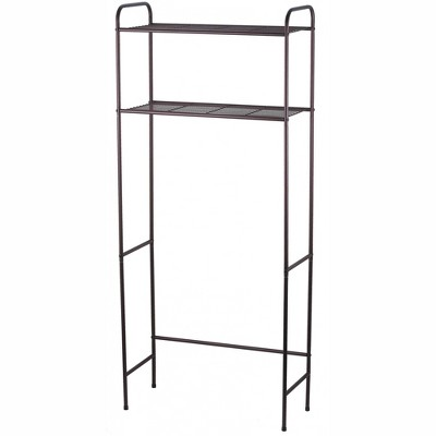 Home Basics 2 Shelf Bathroom Space Saver, Bronze