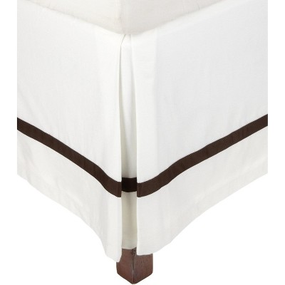"""300-Thread Count Solid Cotton Bed Skirt with 15"""" Drop - Blue Nile Mills"""
