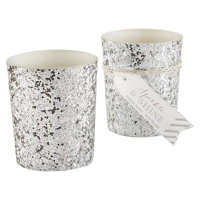 12ct Sparkle and Shine Votive Silver Glitter - Kate Aspen®