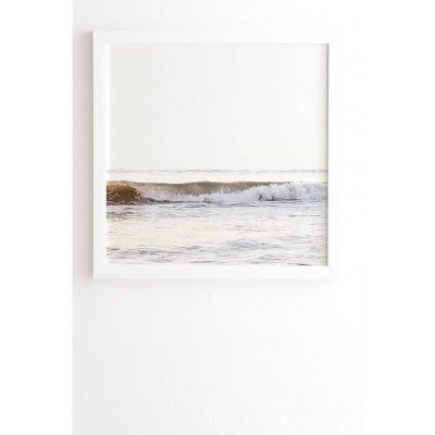 "20"" x 20"" Bree Madden Minimalist Wave Framed Wall Poster - Deny Designs"