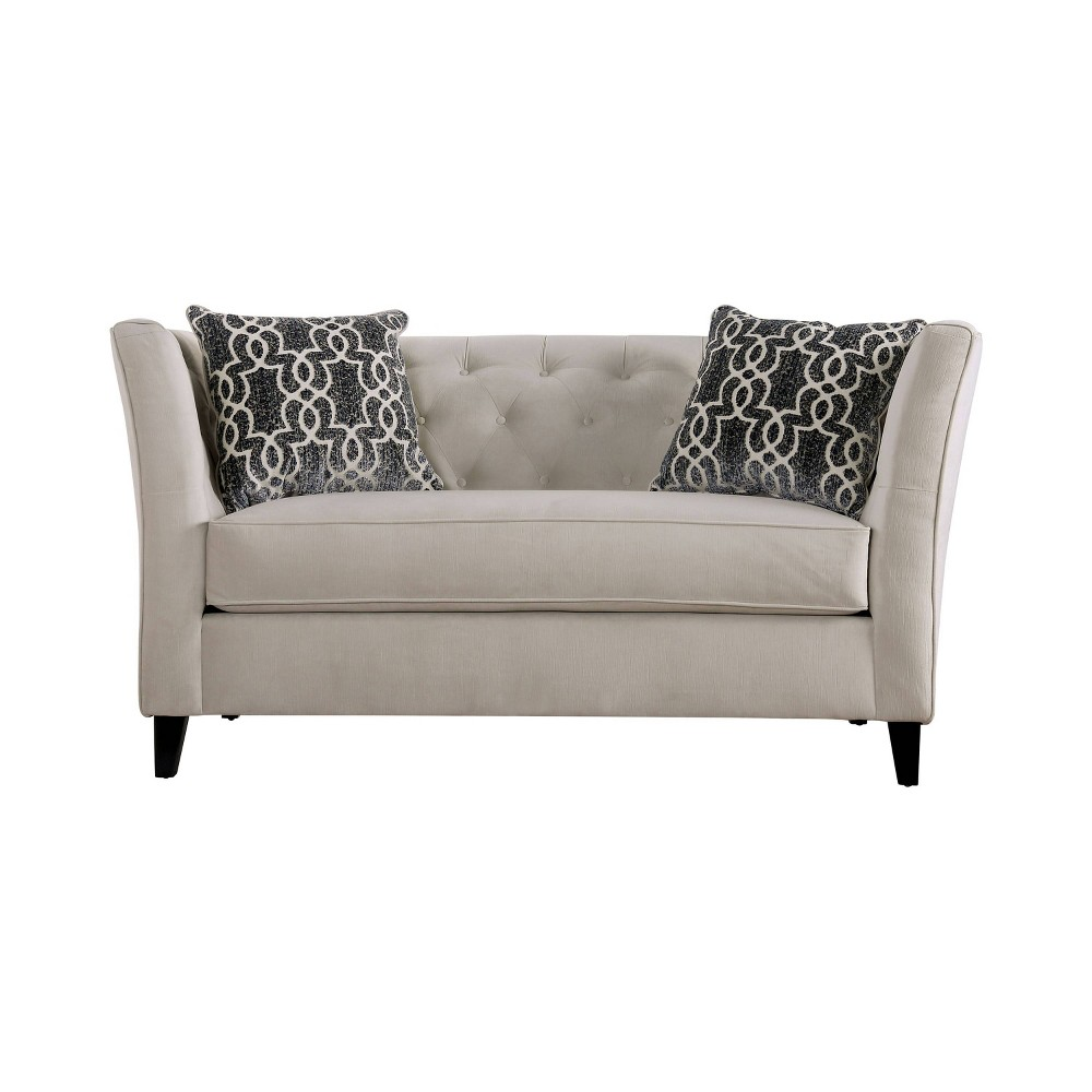Covington Flared Arm Loveseat Ivory - Homes: Inside + Out
