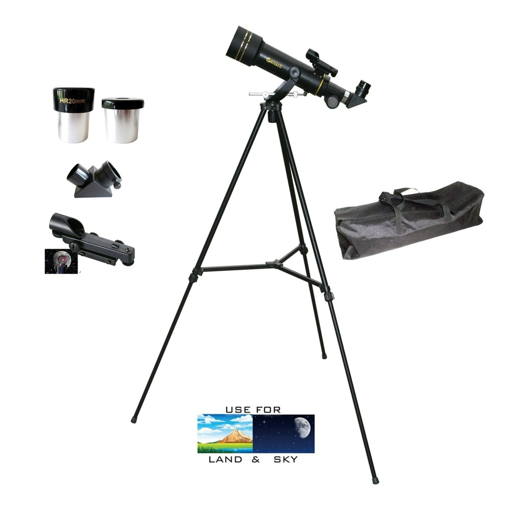 Image of Galileo G-360BP 300mm X 60mm Portable Refractor Telescope - Black