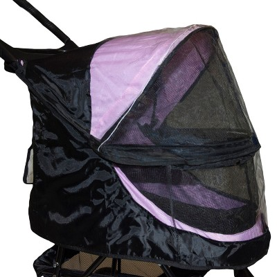Pet Gear - Weather Cover for No-Zip Happy Trails Stroller For Dog & Cat - Black