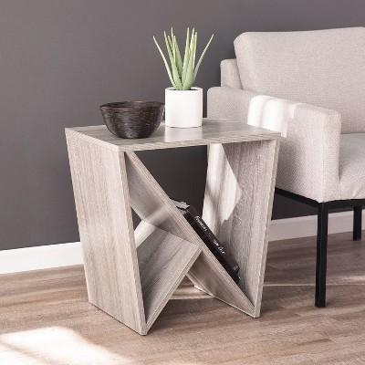 Bullington Contemporary Geometric Side Table Gray - Aiden Lane