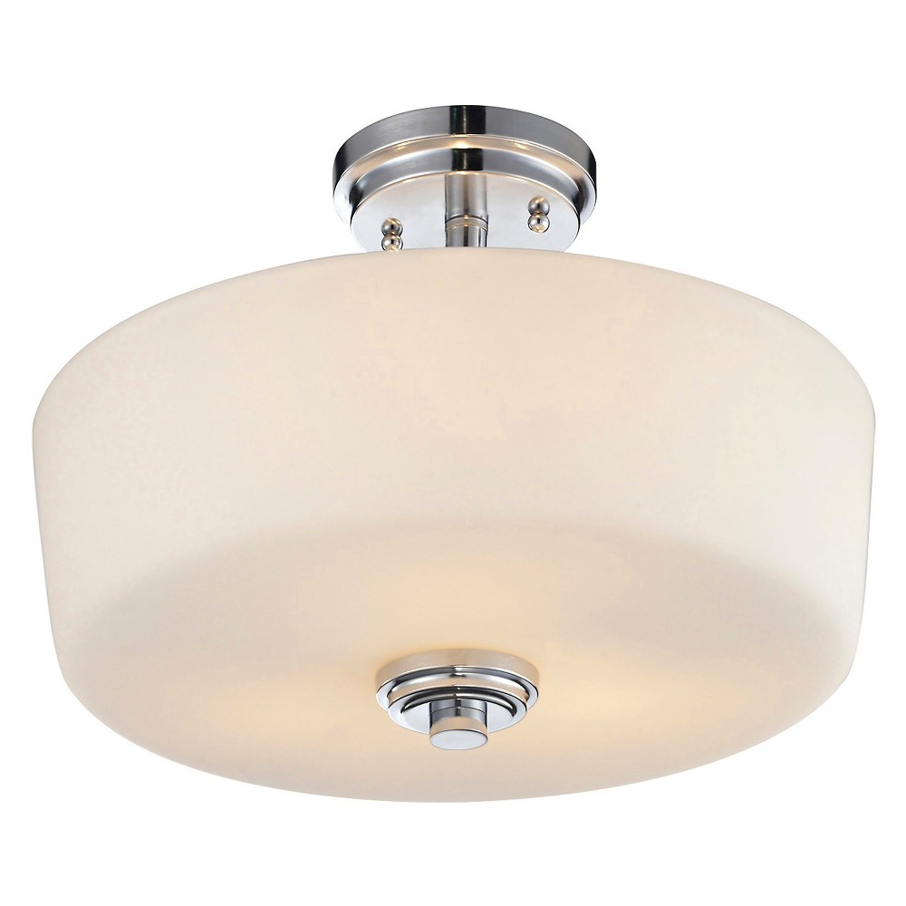 "Image of ""10.75"""" Ceiling Light Semi-Flush Mount Chrome - Z-Lite"""