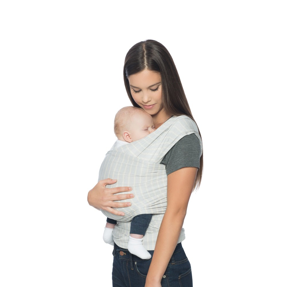 Image of Ergobaby Aura Baby Wrap - Gray Stripes, Gray White