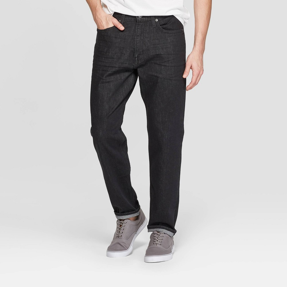 Men's 32 Relaxed Fit Jeans - Goodfellow & Co Black 38x32