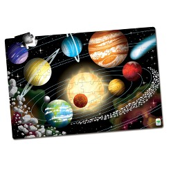 The Learning Journey Puzzle Doubles, 100pc - Glow In The Dark - Space
