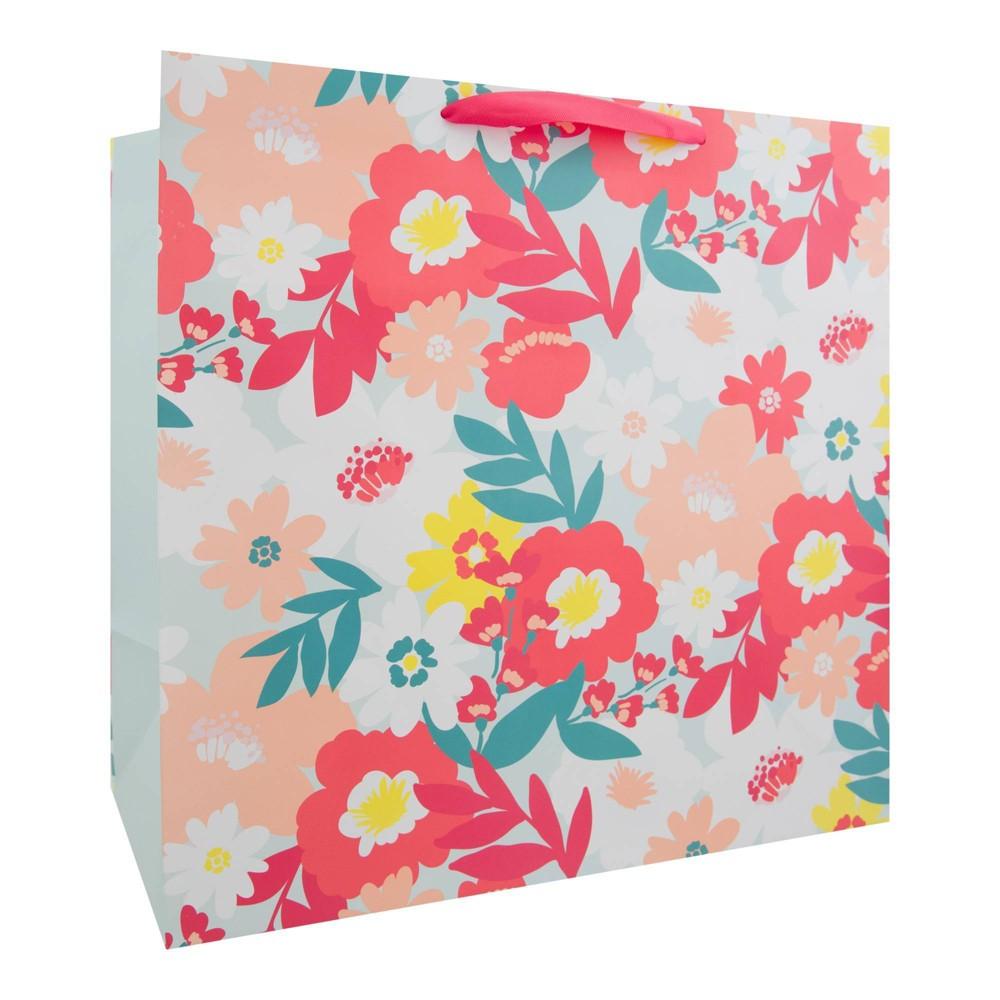 Floral Square Gift Bag - Spritz, Multi-Colored