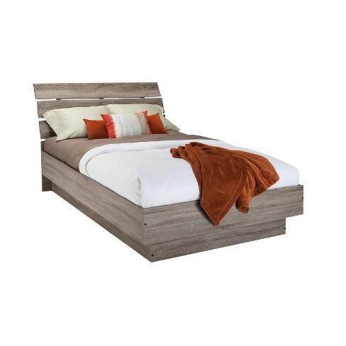 Wood Full Platform Bed in Truffle Gray-Atlin Designs - image 1 of 4