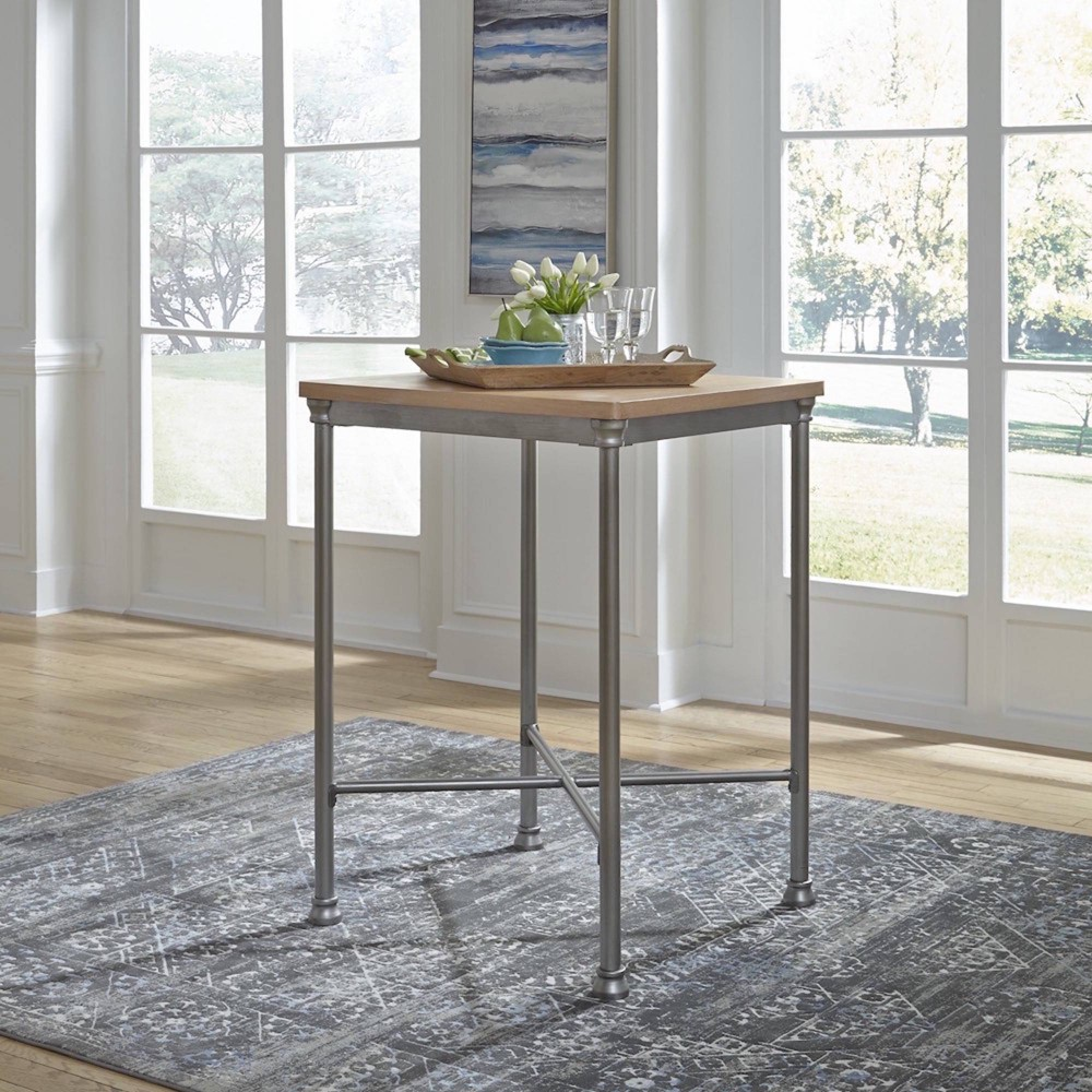 French Quarter Bar Table White - Home Styles, Natural